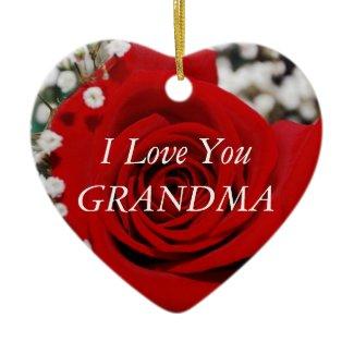 I Love You Grandma ornament