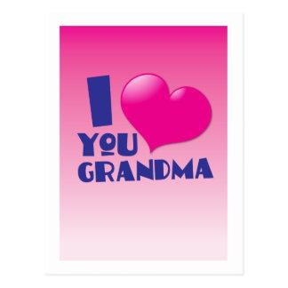 I love you grandma postcard