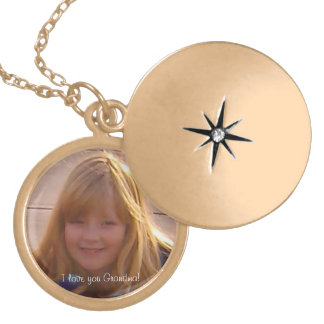 I love you Grandma Round Locket Necklace