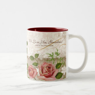 I Love You Grandma, Vintage English Roses Mug