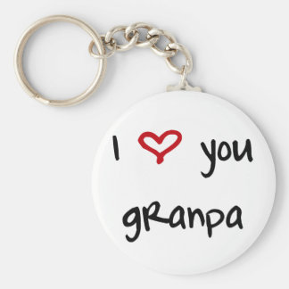 I Love You, Grandpa Basic Round Button Keychain