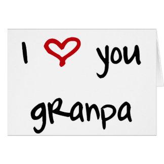 I Love You, Grandpa Card