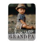 I Love You Grandpa Custom Photo Magnet