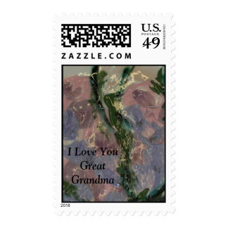 I Love You Great Grandma Postage Stamp