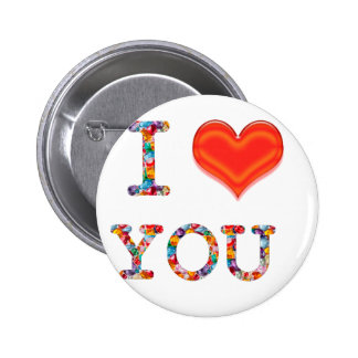 I LOVE YOU :  Great Positive SCRIPT    lowprice gi Pinback Button