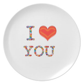 I LOVE YOU Great Positive SCRIPT lowprice gi Plates