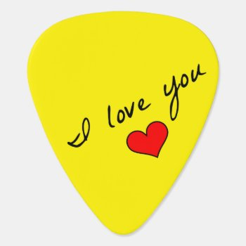 I Love You Guitar Pick by MarblesPictures at Zazzle