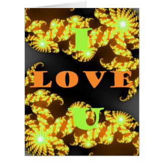 I love You Hakuna Matata Golden yellow best wishes Card