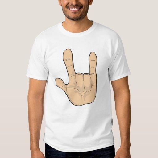 I Love You Hand Gesture T Shirt Zazzle