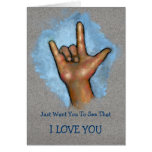 I LOVE YOU: Hand Making ASL Sign: Sign Language Greeting Cards