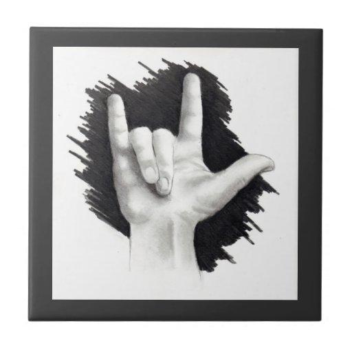 Language Arts Drawing Love You Sign Language Drawing