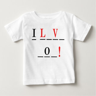 I Love You-Hangman Style by Shirley Taylor Baby T-Shirt