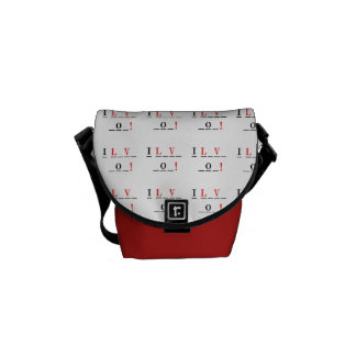 I Love You-Hangman Style by Shirley Taylor Messenger Bag