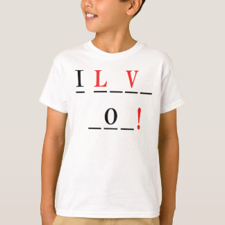 I Love You-Hangman Style by Shirley Taylor T-Shirt