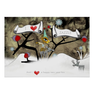 I love you happy new year colossal Christmas Print