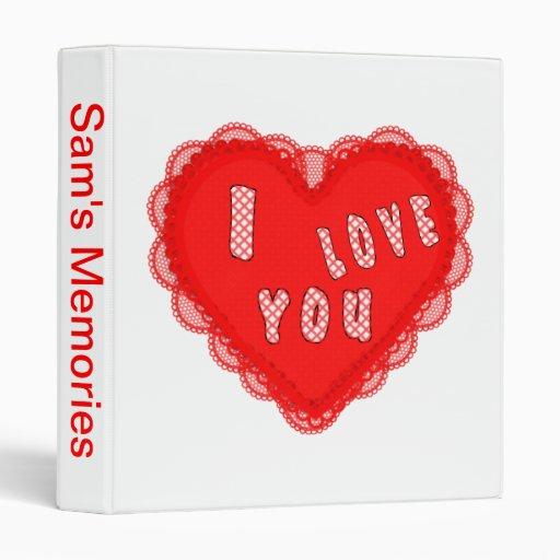 I LOVE YOU HEART BINDERS