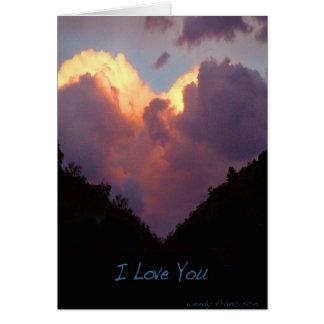 I Love You, Heart Cloud Card