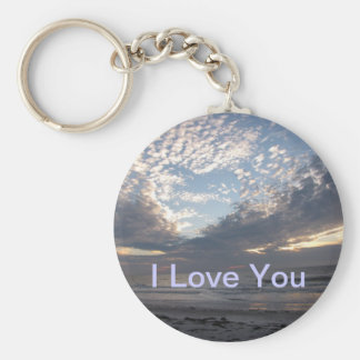 I Love You Heart Cloud Keychain
