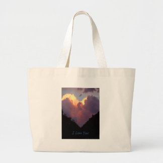 I Love You, Heart Cloud Large Tote Bag