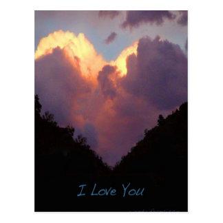 I Love You, Heart Cloud Postcard
