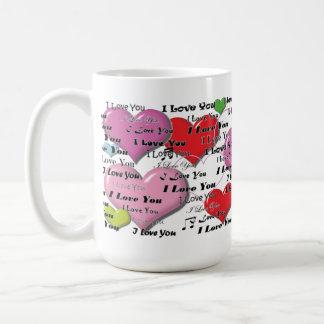 I Love You - Heart Colorfull Mug
