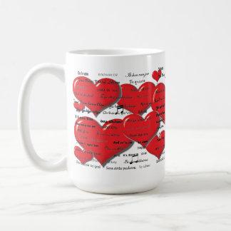 I Love You - Heart Colorfull Coffee Mug