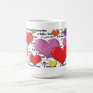 I Love You - Heart Colorfull Coffee Mugs