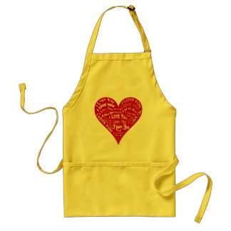 I Love You Heart Design for Weddings & Holidays Adult Apron