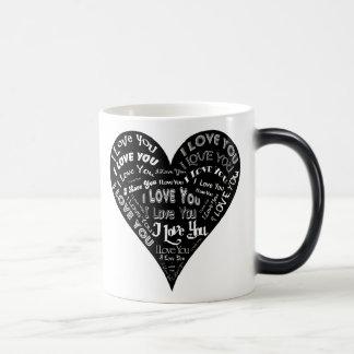 I Love You Heart Design for Weddings & Holidays 11 Oz Magic Heat Color-Changing Coffee Mug