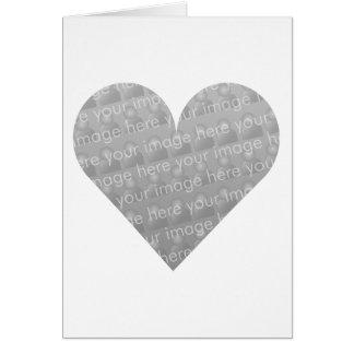 I Love You Heart Design Greeting Card