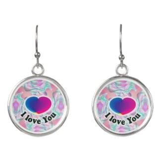 I Love You Heart Earrings