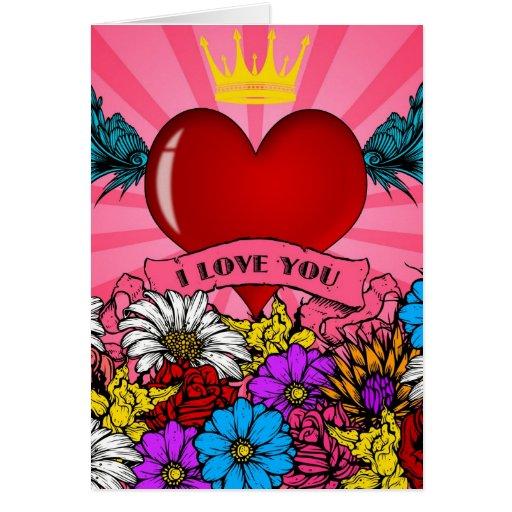 I Love You Heart Greeting Card