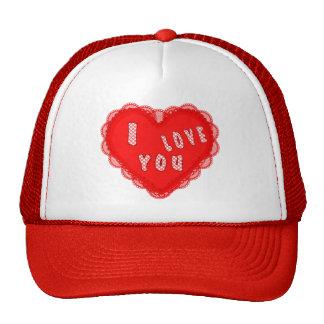 I LOVE YOU HEART HATS