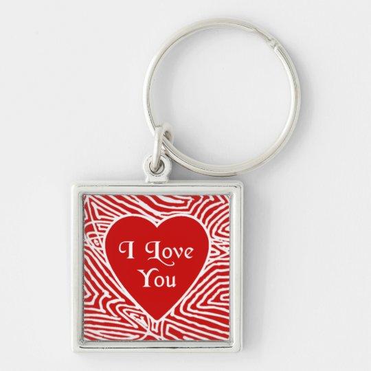 I Love You Heart Keychain