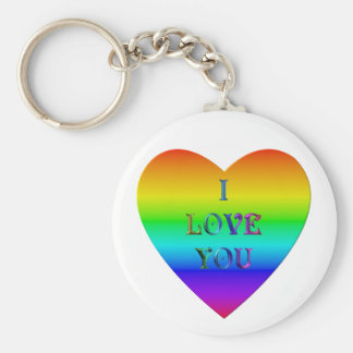 """I Love You"" heart Keychain"