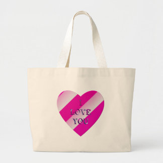 """I Love You"" heart Large Tote Bag"