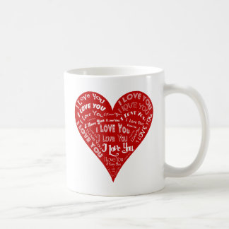 I Love You Heart Classic White Coffee Mug