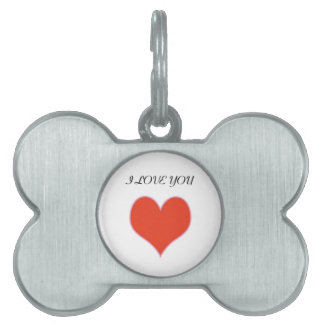 """I LOVE YOU"" HEART PET ID TAG"