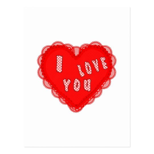 I LOVE YOU HEART POSTCARD