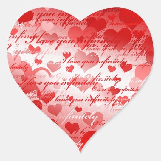 I love you heart sticker