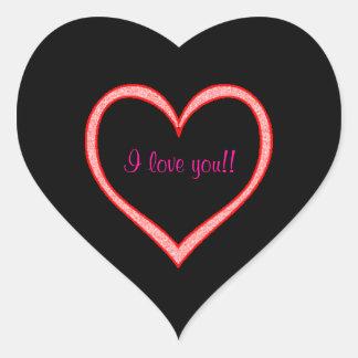 I Love You! Heart Sticker