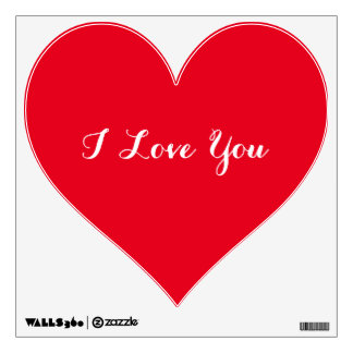 I Love You Heart Valentines Day Wall Decal Sticker