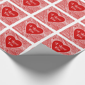 I Love You Heart Wrapping Paper