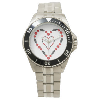 I LOVE YOU HEARTS CLASSIC STAINLESS STEEL WATCH