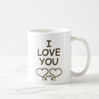 I LOVE YOU HEARTS CLASSIC WHITE COFFEE MUG