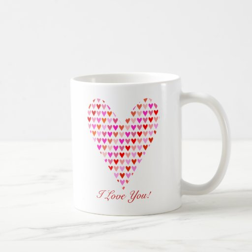 I Love You Hearts Mug