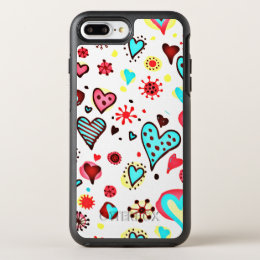 I Love You Hearts OtterBox Symmetry iPhone 8 Plus/7 Plus Case