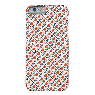 I love you - hearts pattern barely there iPhone 6 case