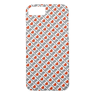 I love you - hearts pattern iPhone 8/7 case
