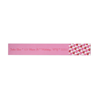 I Love You Hearts Wrap Around Address Label